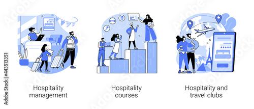 Fotografia Hotel business abstract concept vector illustrations.
