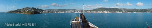 Fotografie, Obraz Panoramic view of Wellington from a ferry
