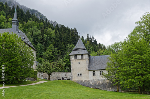 Fotografie, Obraz ST-PIERRE DE CHARTREUSE, FRANCE, June 6, 2021:  Museum of Grande Chartreuse Monastery, head monastery of the Carthusian religious order