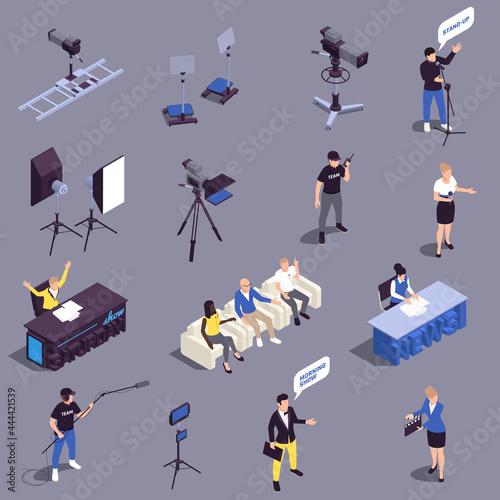Billede på lærred TV Show Icons Set