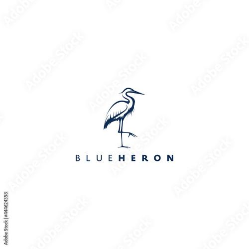 Tablou Canvas heron design logo concept