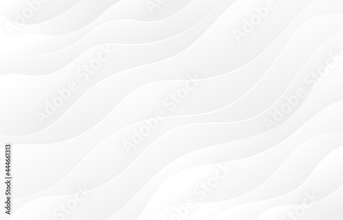 Light gray and white wave flowing modern curve luxury elegant texture with smooth and clean vector subtle abstract background