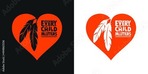 Fototapeta Every Child Matters and Orange Shirt Day Canada