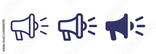 Fotografia Loudspeaker megaphone icon vector isolated on white background.