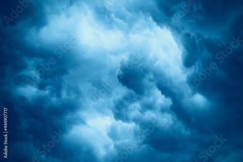 Fototapeta Beautiful dark storm clouds. Background. Scenery. Texture.