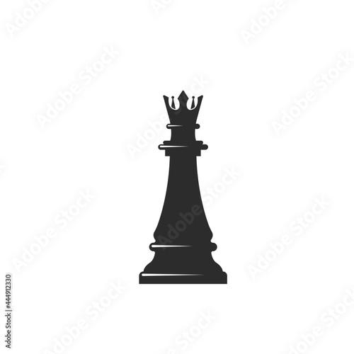 Obraz na plátně chess queen  icon vector illustration design