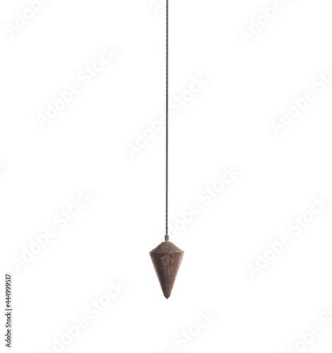Foto industrial pendulum isolated on white background
