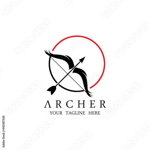 Photo Athena Minerva Silhouette with , Royal archer Logo Design