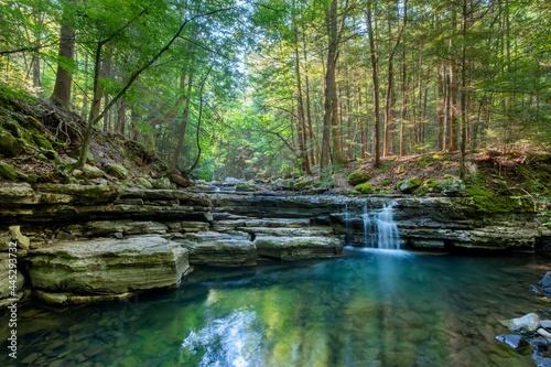 Hemlock Falls, Fall Creek Falls State Park, Tennessee Fotobehang