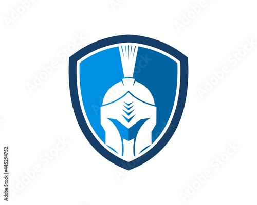 Canvas-taulu Protection shield with spartan helmet inside