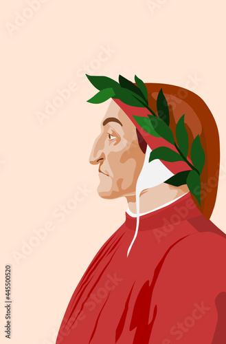 Fotografie, Obraz Dante Alighieri, poet, writer and philosopher; Florentine poet; Tuscan poet