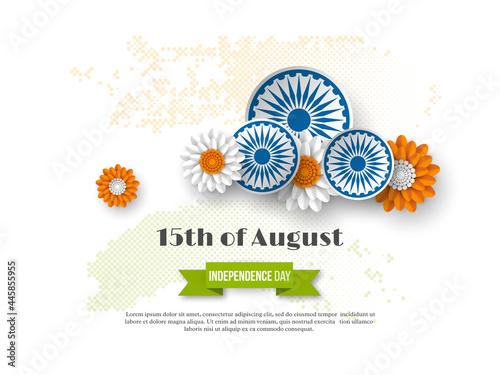 Fotografia Indian Independence day holiday design