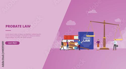 Fotografia probate law concept for website landing homepage template banner or slide presen