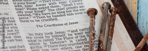 Fotografie, Obraz The crucifixion of Jesus Christ, Son of God