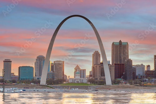 Wallpaper Mural Downtown St. Louis city skyline, cityscape of Missouri in USA