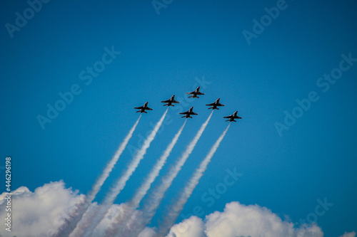Photo Air Force Jets Flying in Formation
