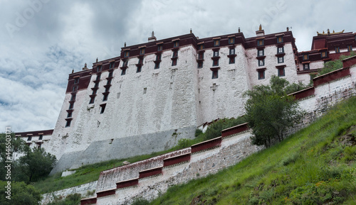 Canvastavla LHASA, TIBET - AUGUST 17, 2018: Magnificent Potala Palace in Lhasa, home of the Dalai Lama before the Chinese invasion and Unesco World Heritage Site