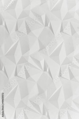 Leinwand Poster White modern triangular abstract background, Grunge surface