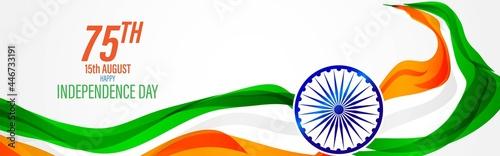 Obraz na plátně vector illustration for Indian independence day-15 august