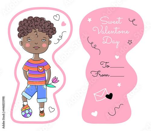 Fotografija Valentine's Kids Card template