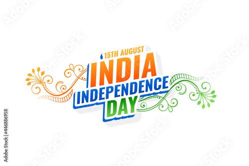 Obraz na plátně decorative india independence day background