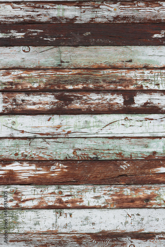 Wallpaper Mural white and green painted aged weatherboard exterior patterned textured background