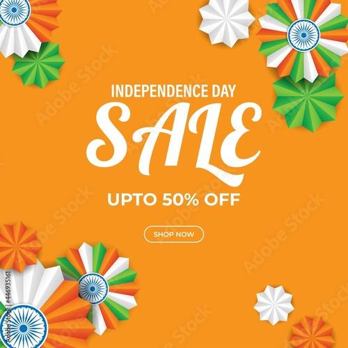 vector illustration for Indian independence sale banner-15th august Fototapeta
