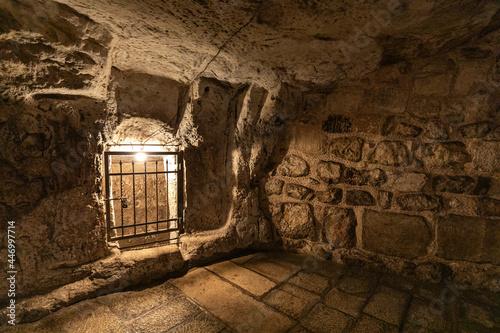 Canvastavla Underground Greek Orthodox Partorium Church, Prison of Christ, Thieves and Barab