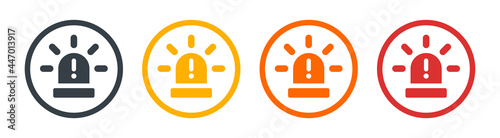 Stampa su Tela Flasher siren icon