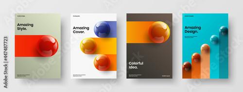 Fotografiet Amazing corporate cover A4 vector design illustration collection