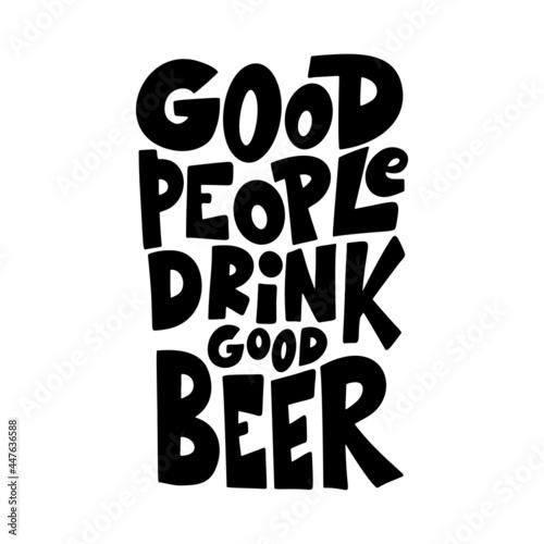 Valokuva Beer hand drawn poster