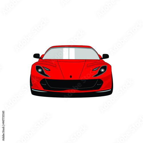 red sports car, front view. Lamborghini Aventador. фототапет