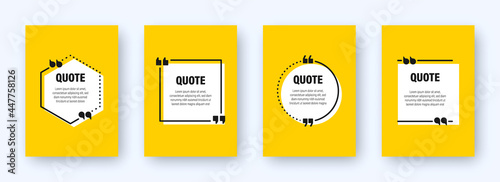Fotografie, Obraz Set of modern yellow banners with quote frames