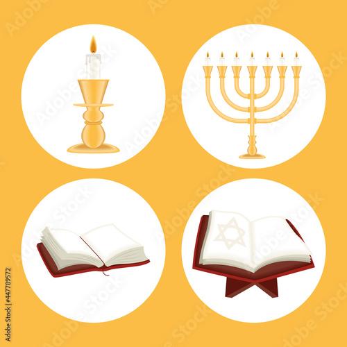 Obraz na plátně four yom kippur icons