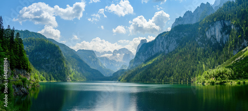 Gosausee, a beautiful lake with moutains in Salzkammergut, Austria.