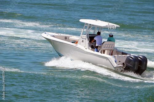Sport fishing boat Fototapet