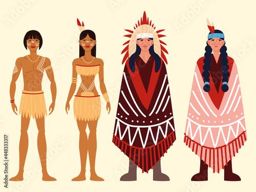 Obraz na plátně aboriginal native people