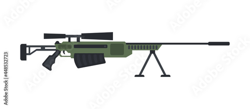 Photo Military weapon sniper rifle with optical scope for training soldiers or police