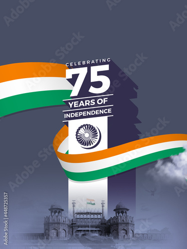Fototapeta Celebrating the 75th year of India's Independence