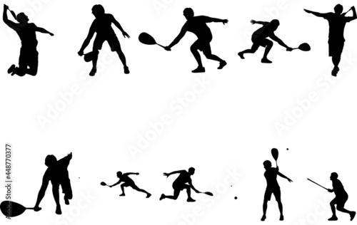 Fototapeta Man Squash silhouette vector