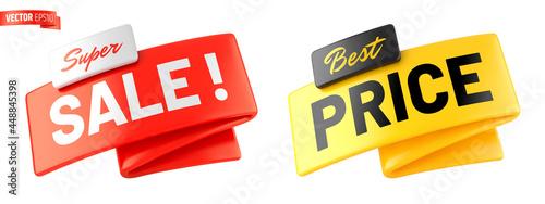 Bannières promotionnelles vectorielles sur fond blanc