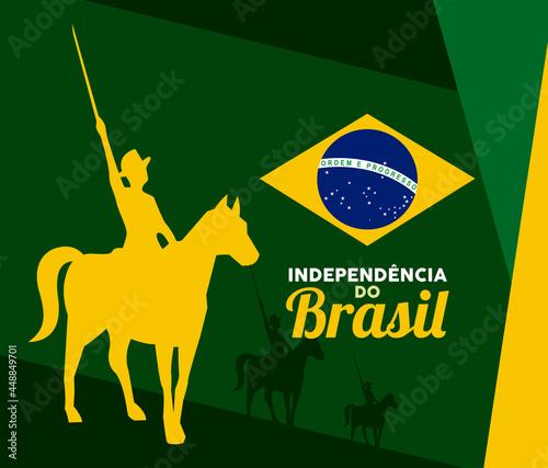 Fotografie, Obraz happy brazil independence poster