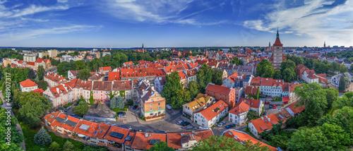 Olsztyn widziany z lotu ptaka -panorama Starego Miasta