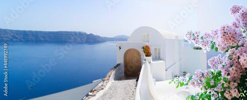 Obraz na plátně beautiful details of Santorini island, Greece