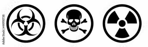 Valokuva danger radiation, poison, hazard sign