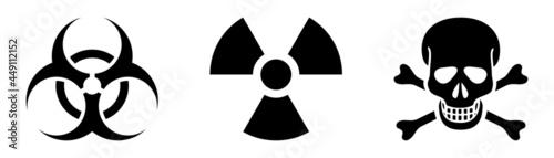 Photo danger radiation, poison, hazard sign