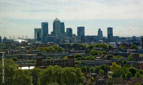 Fotografering Canary Wharf Cityscape, Greenwich London England