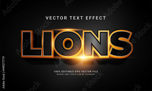 Lions editable text style effect with animal wild life theme