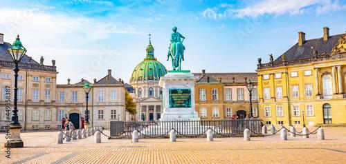 Panorama of Amalienborg Palace and city square, Copenhagen