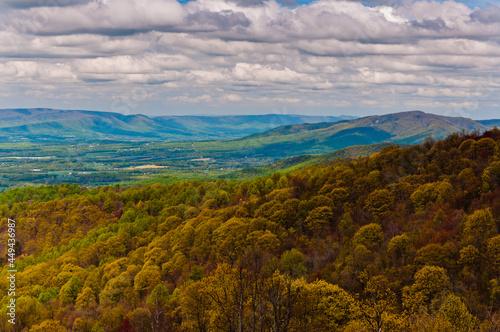 Photo Shenandoah Valley View From the Appalachian Trail, Shenandoah National Park, Vir